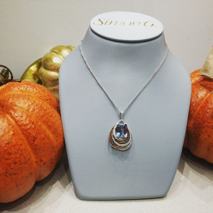 "I never met a ""Pumpkin"" I don't like. #simongsparkles #simongjewelry #customdesign #bobthompsonjewellers #aquamarine #pendant"