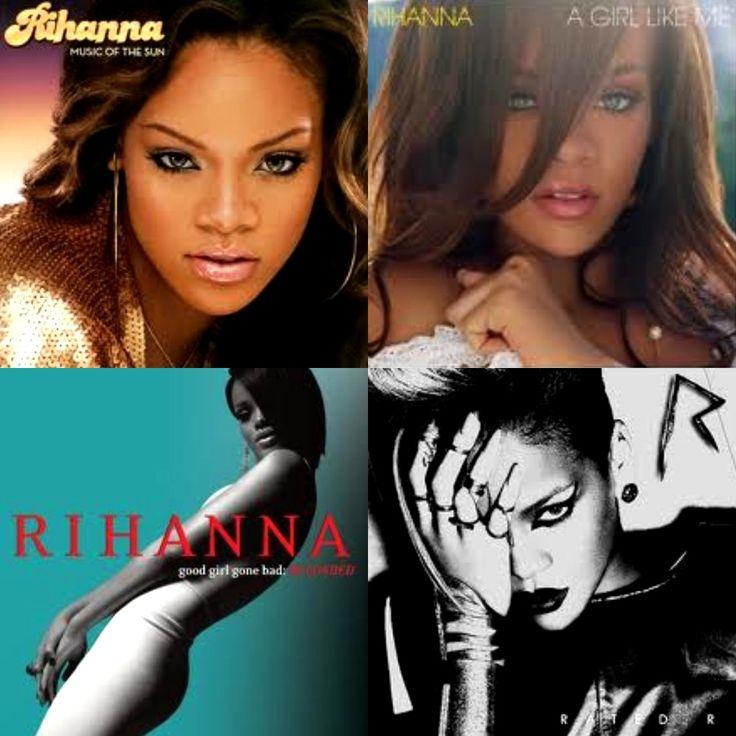 Rihanna Album Collage