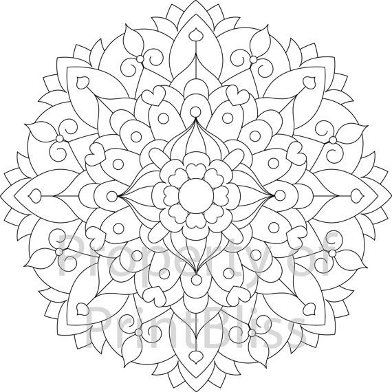 Flower Abstract Coloring Pages : Best 25 mandala printable ideas on pinterest coloring