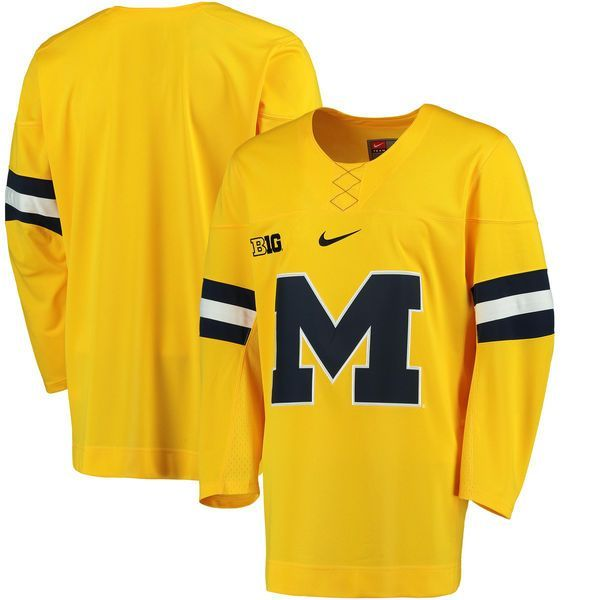 Michigan Wolverines Nike Replica Hockey Jersey - Maize - $124.99