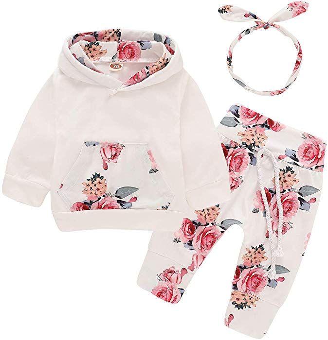 Amazon.com: 3PCS <b>Infant Toddler Baby</b> Girl <b>Clothes</b> Long Sleeve ...