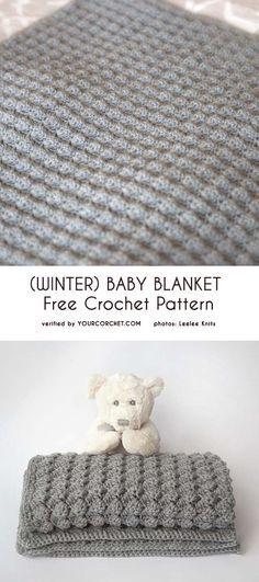 Winter Baby Blanket Free Crochet Pattern Haken Kussens En