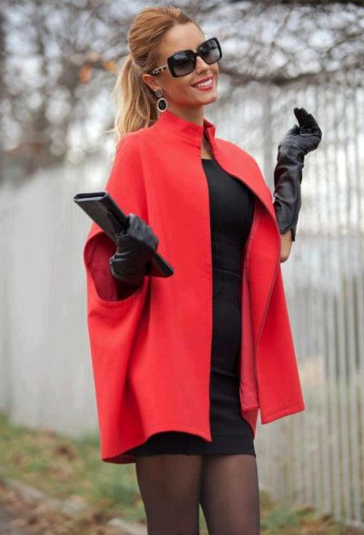 Стильная одежда кейп-силуэта (45 фото)   | Каблучок.ру