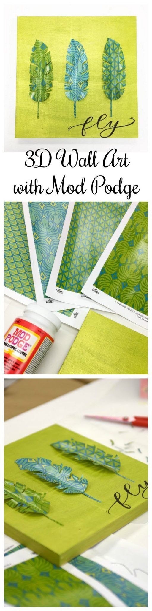 2280 best mod podge mod melts images on pinterest mod melts 3d wall art with mod podge from one artsy mama