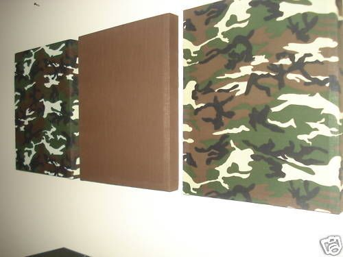 Green Camo Print Fabric Wall Hanging Canvas Camouflage Decor 14X17EA | eBay