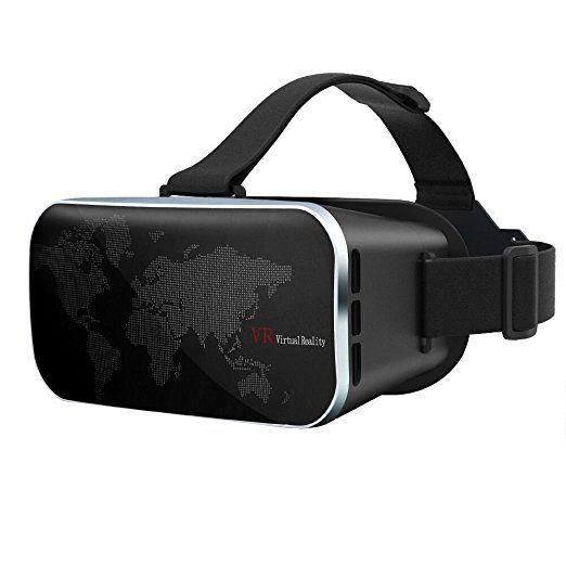 VR Brille, 3D Handy Brille Virtuelle Realität Brille 3D VR Headset für Filme und Spiele, Kompatibel mit Samsung Galaxy S7 S7 Edge S6 S6   Edge, Iphone 5 6 6s Plus, 4.0-6.0 Zoll Android Smartphone usw.
