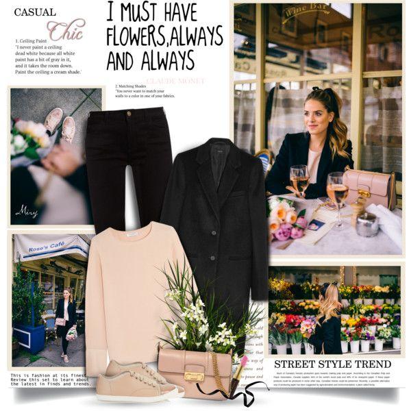 A fashion look from February 2017 by thewondersoffashion featuring Equipment, Joseph, Gucci, Lanvin e Kevyn Aucoin