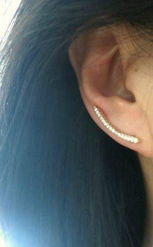 Ear Cuffs Minimalist Ear Sweep Pin, Ear Climber, Ear Crawler Earrings