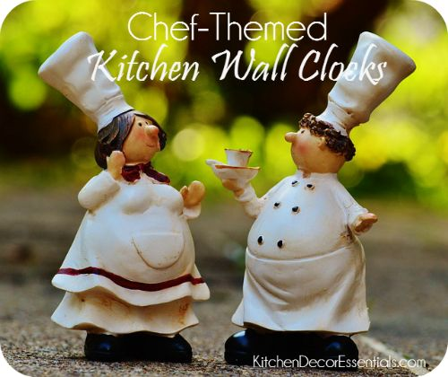 Chef Kitchen Wall Clocks - Perfect for chef-themed kitchens!