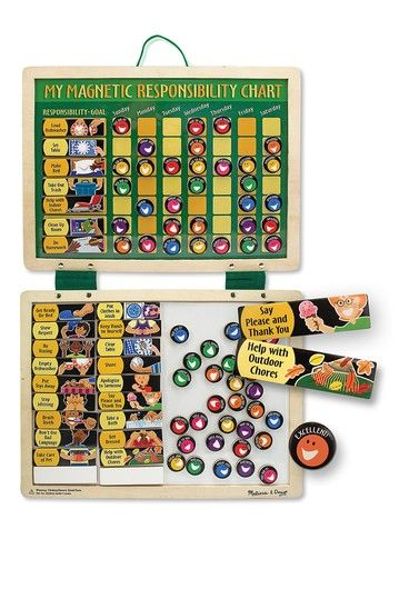 Magnetic Responsibility Chart by Melissa & Doug on @HauteLook