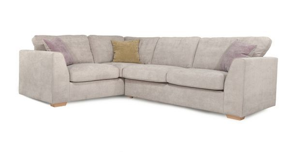 Blanche Right Hand Facing 2 Seater Corner Sofa  Sherbet | DFS Ireland