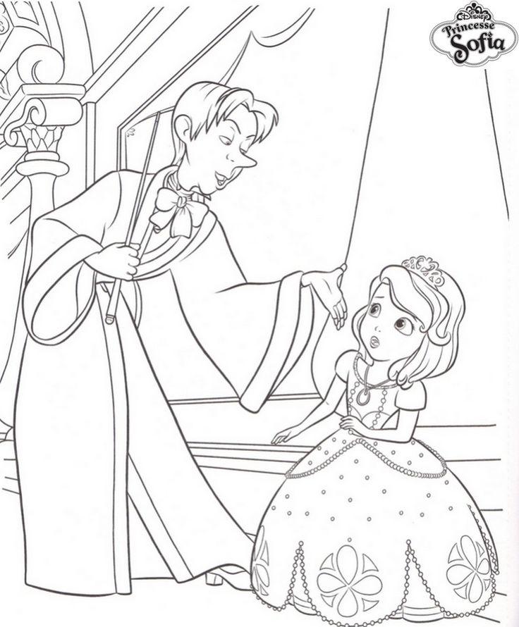 coloriage princesse sofia et cedric | Coloriage à imprimer princesse, Coloriage princesse ...