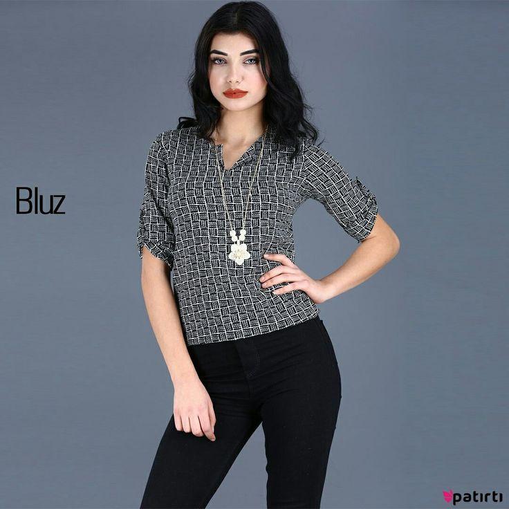 Ürün Kodu:  21012 Bugün patirti.com 'u ziyaret ettin mi?  Yaka Aksesuar Detay Dirsek Kol Desenli #Bluz #Alisveris #Moda #Style #Fashion #Shopping #Style #Dress #Elbise #Jean #Abiye #Beauty #Beautiful #Model#Pretty #Girl #Clothes #Love #Swag #instamood #instagood #instalike #follow #Party #Stylish #Photooftheday #guzel #kadin #giyim #bayangiyim