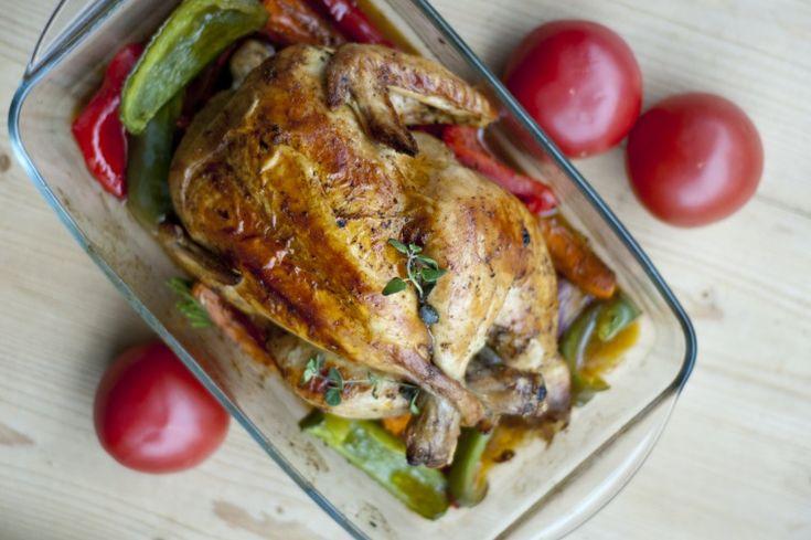 Idealny kurczak pieczony z warzywami