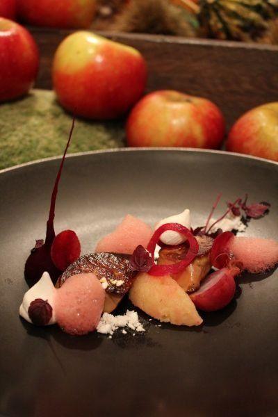 Foie Gras de canard des Landes aux pommes Ariane et parfum de Shiso