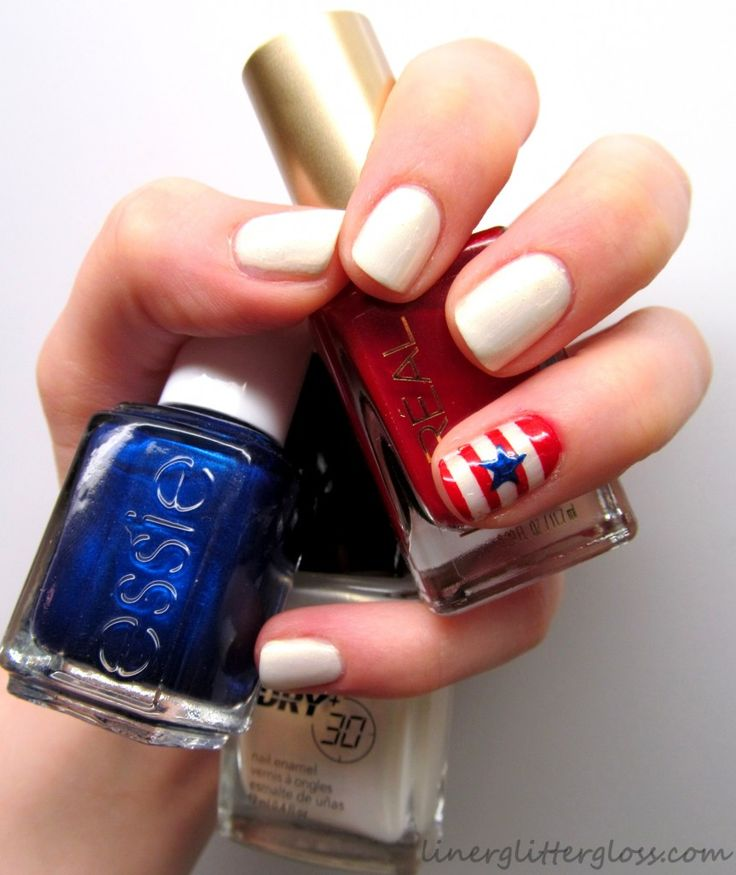 4th of July Nails - #mani #nailart #patriotic #USA #4thofJuly #Essie #LorealParis #Bourjois #Avon