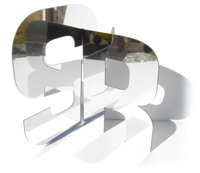 Dibond mirror is outdoor rated and can be machined in the same way as all other types of dibond. #logos #sign #dibond #mirror