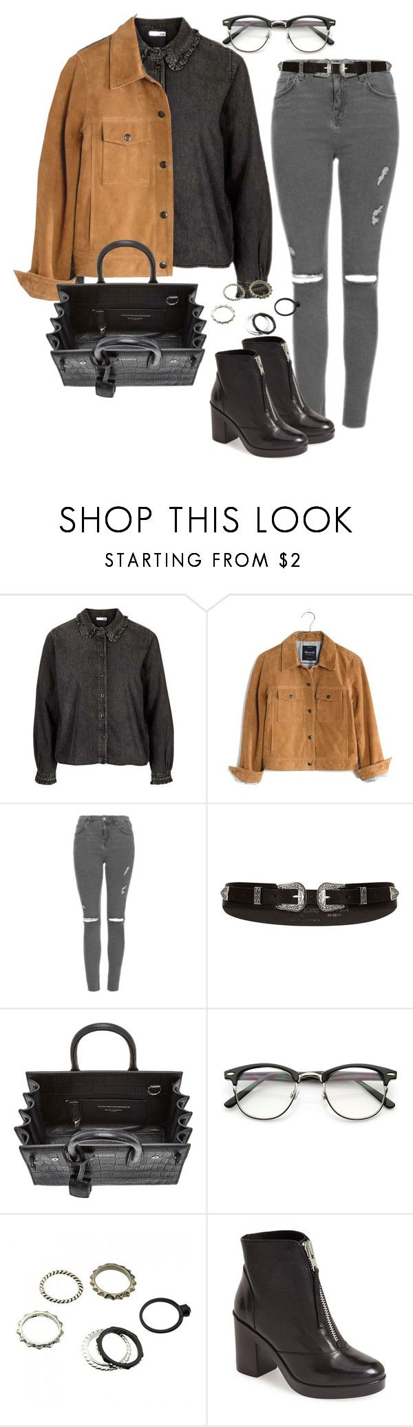 """Sin título #303"" by franciscagomezm on Polyvore featuring moda, Topshop, Madewell, River Island y Yves Saint Laurent"