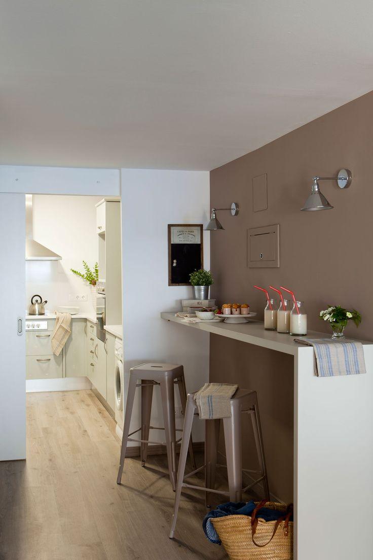 C mo renovar tu casa en solo un d a comer en la cocina Cocinas pequenas modernas con barra