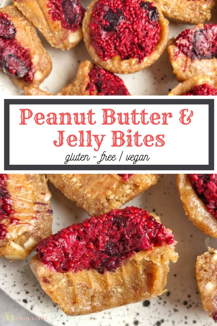 Peanut Butter and Jelly Bites (Gluten-Free, Vegan)