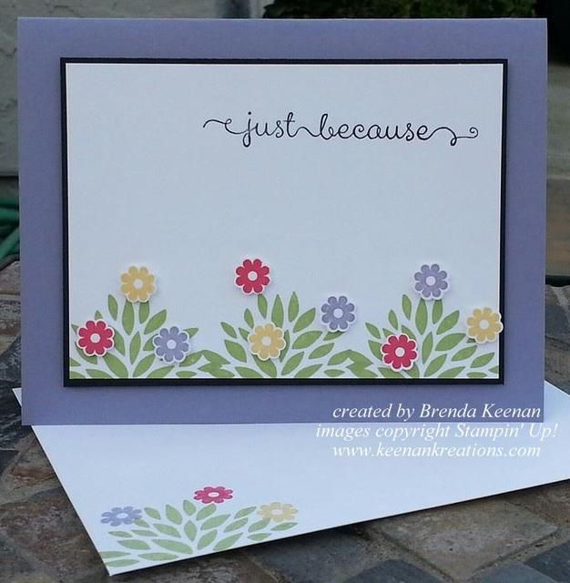 Cheerful Spring Card by the talented Brenda Keenan using the PETAL PRINTS SU set