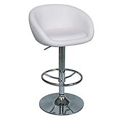 Debenhams - White 'Plaza' gas lift bar stool
