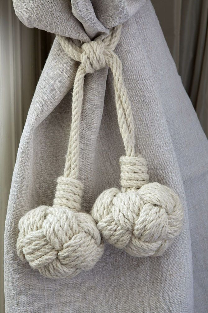 nautical rope inspired tie-backs