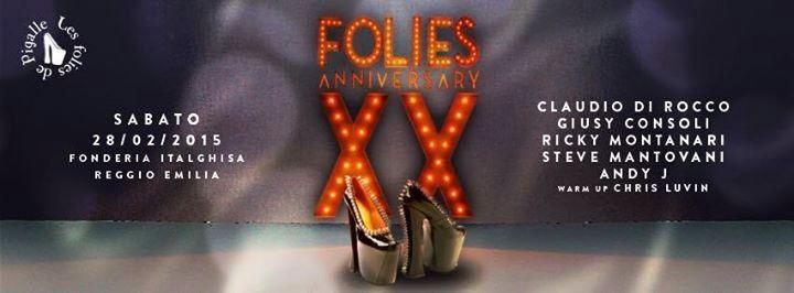 #foliesdepigalle #foliesanniversary #dimitrimazzoni sabato 28 febbraio 2015