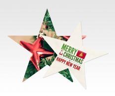 Kerstster flyers zijn een leuke variatie voor flyers rond de feestdagen. #flyers, #flyersdrukken, #kerstkaarten #kerstster