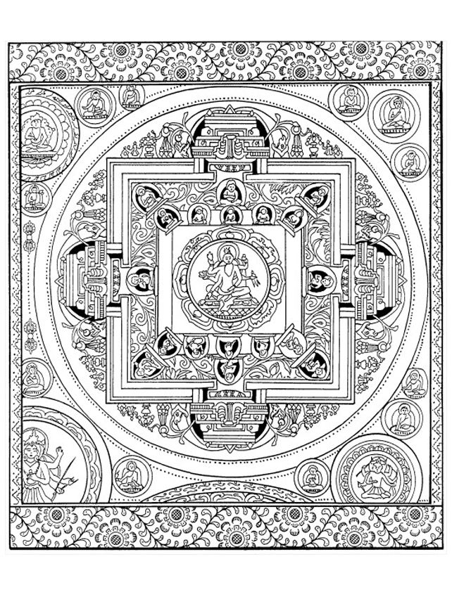 Adult Mandala Tibetain Coloring Pages Printable And Book To Print For Free Find More Online Kids Adults Of