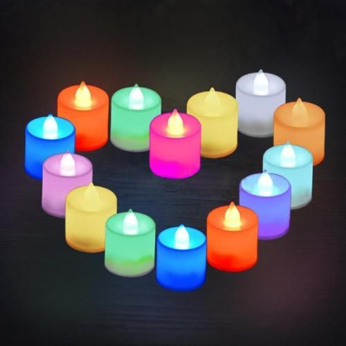 12X-Flameless-Battery-Operated-LED-Tea-Light-Candle-Colorful-Wedding-Party-Decor