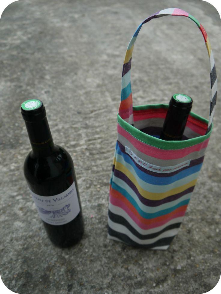 Sacs bouteilles chics abc fait par maman couture pour la maison couture de no l facile - Couture pour la maison ...
