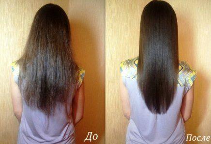 Кокосовое масло для волос фото до и после