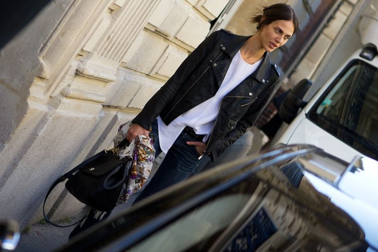 Aymeline Valade: Black Leather Jackets, Simply Spring2012, Edgy Chic, Fashion Week, Fashion Forward, Chic Street Styles, Jeans, Ny Fashion, Daytime Style