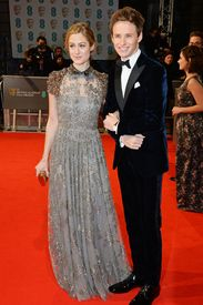 Hannah Bagshawe and Eddie Redmaybe attend the EE British Academy Film Awards at The Royal Opera House on February 8, 2015 in London.