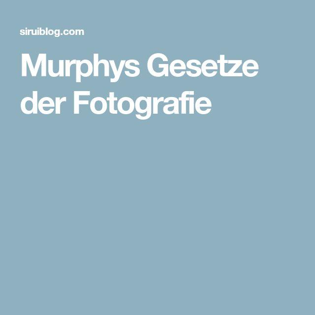 Murphys Gesetze der Fotografie