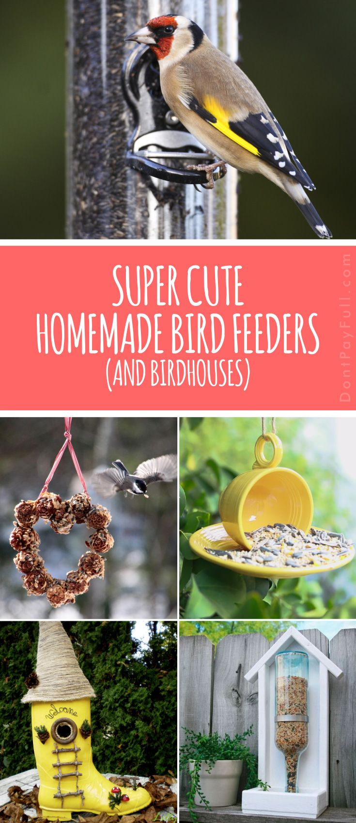 Welcome Spring with These Super Cute Homemade Bird Feeders (and Birdhouses)