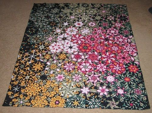 JOOT: One block wonder quilts...stack 'n whack type from 1 fabric.  Beautiful