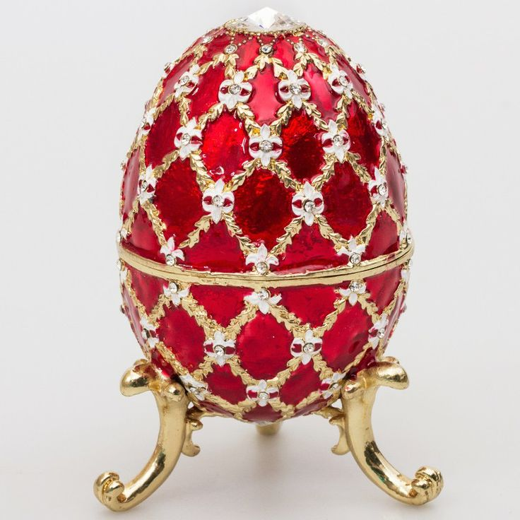 88 best faberge style eggs and gifts images on pinterest faberge emperor faberg style egg jewelry box red faberge style eggs decorative eggs negle Gallery