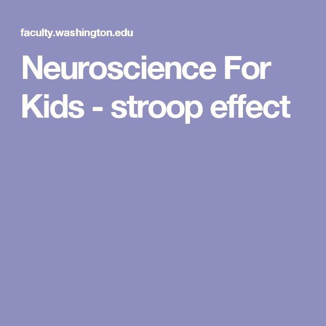 Neuroscience For Kids - stroop effect