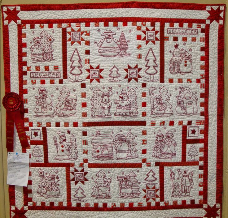 Redwork Quilt Patterns Christmas : 17 Best images about Red work on Pinterest Christmas ...