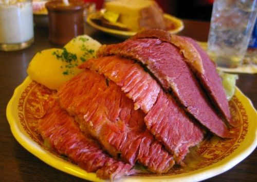 Guiness Corned Beef and Cabbage. Several people have said it's the best corned beef they've ever had!