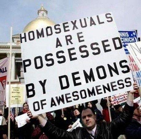 Homoseksuelle er besat af d�moner