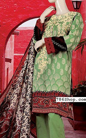 Green Lawn Suit | Buy Junaid Jamshed Eid Collection Pakistani Dresses and Clothing online in USA, UK