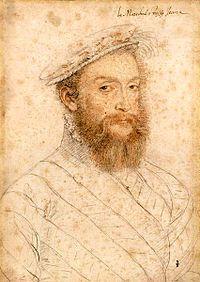 Portrait de Pierre (Piero) Strozzi, maréchal de France. Atelier de François Clouet, vers 1555 (Chantilly, musée Condé)- Pero Strozzi, cousin de Catherine de Médicis, connu en France sous le nom de Pierre Strozzi (né v 1510 mort le 21 juin 1558 à Thionville, France) était un condottiere florentin de la Renaissance, qui s'engagea au service de la France et devint maréchal de France en 1554 sous Henri II