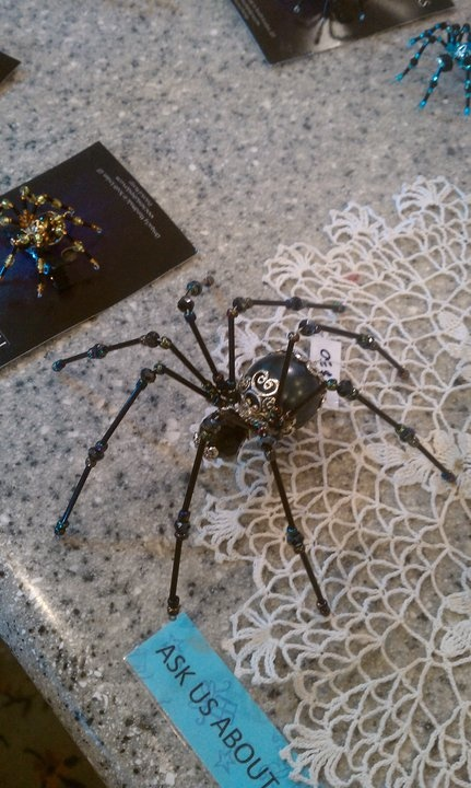 bead spider!  I need one of these!  Between playing jokes on Tay and Todd I wouldn't be able to stop laughing!