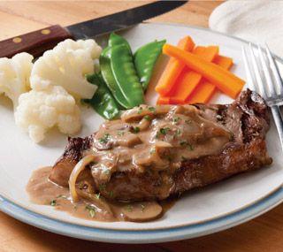 Grilled Strip Loin Steak with Stroganoff Sauce