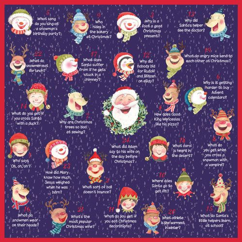 ADV39 Christmas Jokes Advent Calendar. Open a window each day and only £5.50.  Can be ordered through my website www.nichola.cards