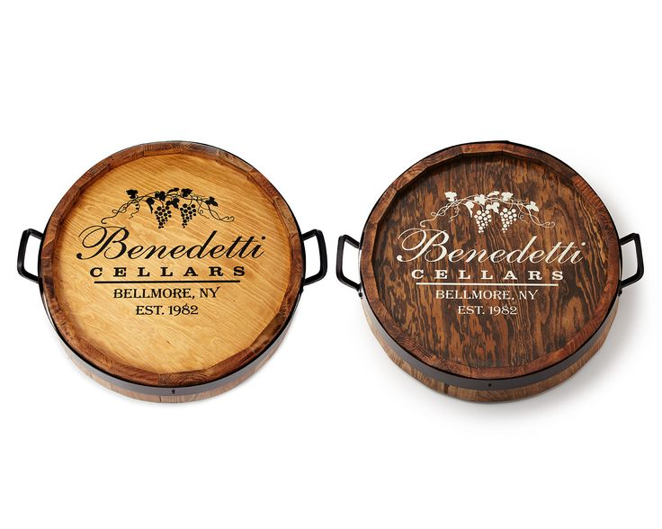 PERSONALIZED LAZY SUSAN | lazy susan, wine barrel, personalized, tabletop | UncommonGoods