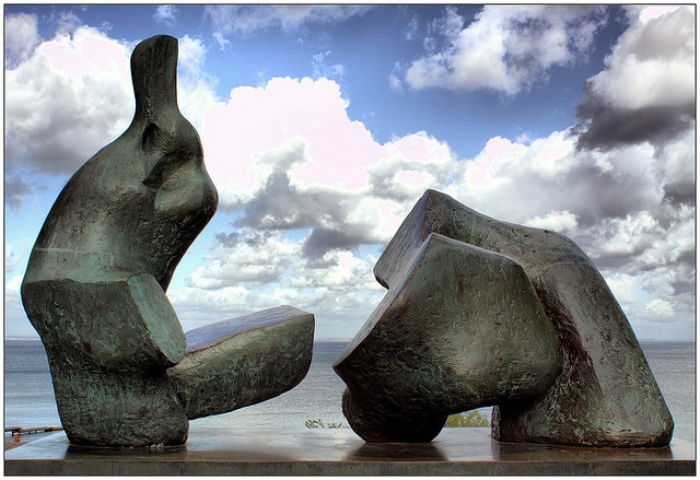 Henry Moore sculpture in Louisiana museum Park - Denmark (HDR) by Jaafar Mestari, via Flickr